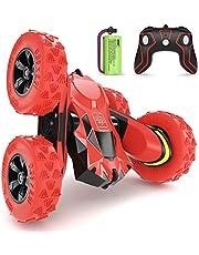 SGILE 4WD RC stuntbil - 2,4 GHz 360° Flip fjärrkontroll lastbil leksak för 6-12 år gamla barn