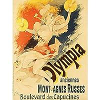 Cheret Olympia Roller Coaster Paris Vintage Advert Extra Large Art Print Wall Mural Poster Premium XL 海岸パリビンテージ広告大アート壁ポスター