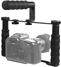 Alzo Transformer Dslr Rig, Handle And Extenders Kit- Multifunctional Camera Cage Bracket Incl. 3 Shoe Mounts, Height Extenders, Handle