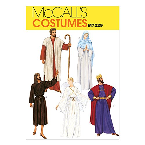 McCall's Patterns M7229, Adult Christmas Nativity Scene Costume Sewing Pattern, Extra Large