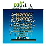 Ecoshirt MT-7JZG-HGA2 Sticker Stickers S Works Specialized Aufkleber Decals Autocollants Adesivi R84, Gold