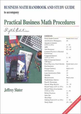 Business Math Handbook and Study Guide To Accompany Practical Business Math Procedures