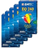 EMTEC EQ 240 5er-Pack VHS-Videokassetten