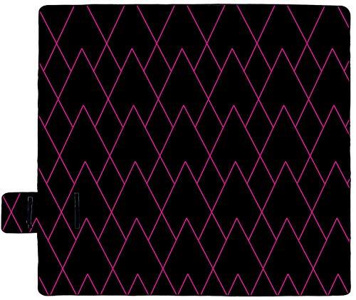 Wsjjshg Rejilla Roja Manta de Picnic, Playa, Parque, Patio, alfombras para Acampar, Viajar, Familia, Primavera, Verano, con Respaldo Impermeable, Plegable Color1 S:127x152cm