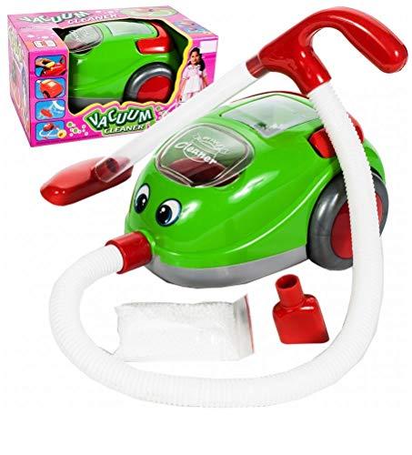 Premium Vacuum Cleaner - Kinderstaubsauger mit Saugfunktion Licht & Musik - Staubsauger von HUKITECH Spielzeug Sauger Saugrohr Spielzeugsauger mit hohem Spaßfaktor