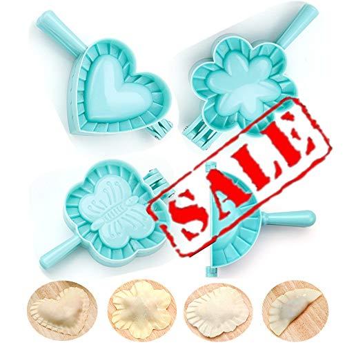 KeepingcooX 4-delad degpressuppsättning – hjärta, blomma, fjäril, cirkel, perfekt för dumpling, calzone, ravioli, Empanada, omsättning & Pierogi