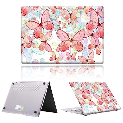 Yhuisen Colorful Butterfly Series Hard Notebook Laptop Case Cover for Huawei MateBook D14 D15 2019 2020 / MateBook 13 14 / X pro 13.9 (Color : B3, Size : MateBook D 15)