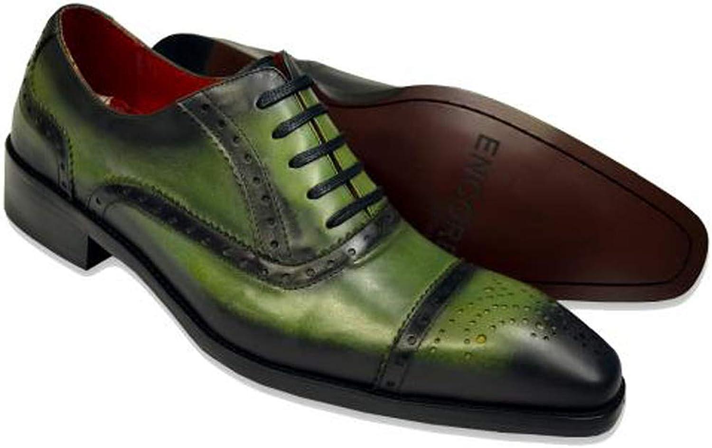 Fiesso Men's Encore Genuine Calfskin Leather Captoe Oxford Dress shoes FI8713
