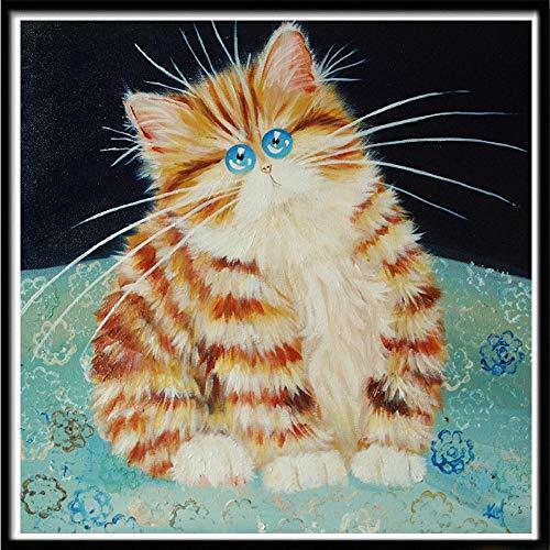 5D DIY personaje paisaje diamante pintura animal Tigre gato mosaico punto de cruz mosaico decoración del hogar pasta de pared A24 30x30 cm