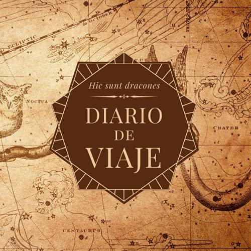 Diario de viaje: Vintage - Mapa del mundo antiguo. Cuaderno de viajes para aventureros.
