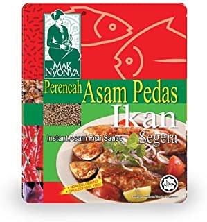 Malaysia Mak Nyonya Instant Asam Fish Sauce Spicy Sour Paste Perencah Asam Pedas Ikan Easy Cooking 亚参鱼酸辣酱 7oz - total of 4 units
