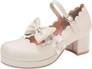 Zanpa Women Sweet Bow Shoes Ankle Strap Pumps