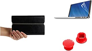 3 in 1 Bundle Deal GPD Pocket 7 Inch Protective PU Case Screen Protective Film Perfect Trackpoint Replacement (Black)