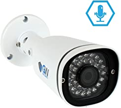 GW Security 5 Megapixel Sony Starvis HD 1920P 3.6mm Wide Angle Weatherproof Security Bullet IP PoE Camera Built-in Microphone, Audio Recording, Power Over Ethernet, 100ft IR Night Vision