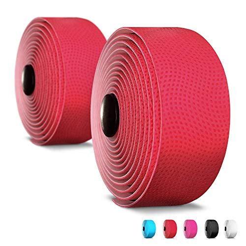 Alien Pros Bike Handlebar Tape PU (Set of 2) Red - Enhance Your Bike Grip with These Bicycle Handle bar Tape - Wrap Your Bike for an Awesome Comfortable Ride (Set of 2, Red)