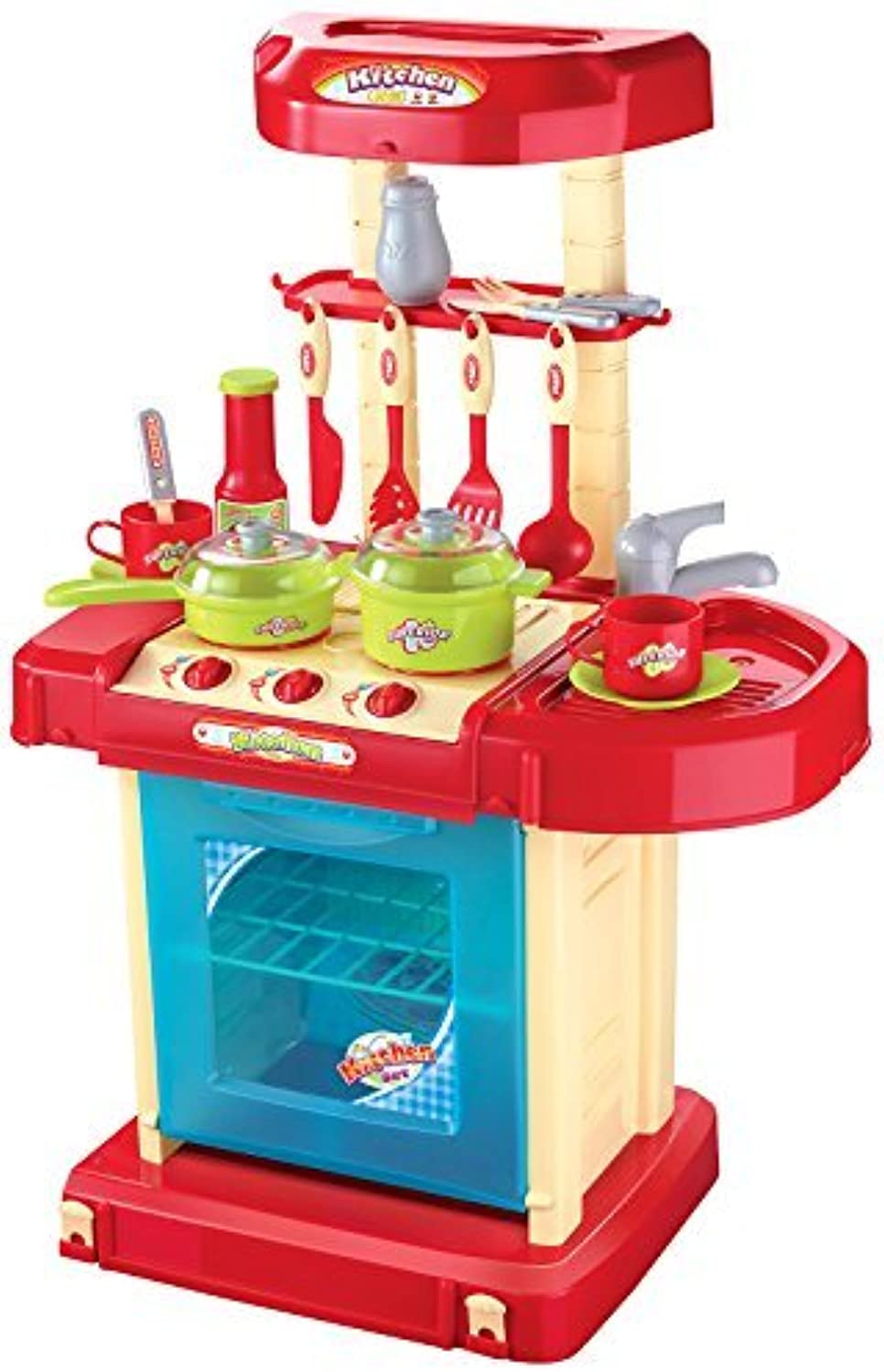Berry Toys Play and Carry Plastic Play Kitchen, rot by Berry Toys