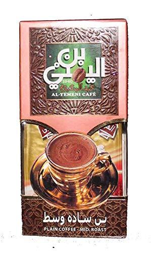 EL - Yemeni EL Yemeni ELYemeni Original Turkish Coffee Cafe Arabic Arabian Arabica Ground Roasted Mud Coffee ( Plan Coffee – Mid Roast 7 oz / 200 gm )