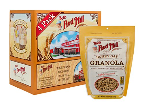 Bob's Red Mill Resealable Honey Oat Granola, 12 Oz (4 Pack)