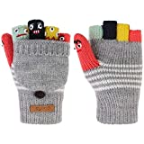 Barts Unisex Baby Handschuhe Puppet Bumgloves, Grau (Heather Grey 002h), 3(4-6y)