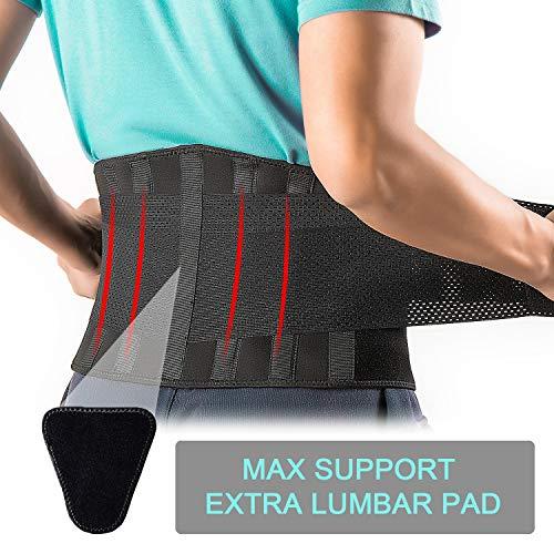 FEATOL Back Brace Support Belt-Lumbar Support Back Brace for Back...
