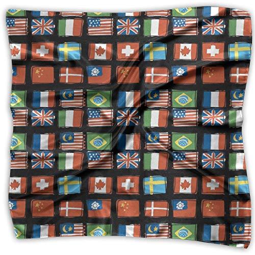 Bandana de seda, pañuelo con la bandera de Canadá estadounidense, hermosas diademas para ciclismo de caza al aire libre, 100x100cm