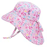 Jan & Jul Toddler Sun Hat for Girls, Water Repellent, 50+ UPF, Quick Dry (S: 0-6 Months, Diving Cats)