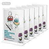 Dawoo Espositore Plexiglass Porta Brochure da Tavolo A4 Set da 6 Porta Menu A4 da Banco per Menu, Listino Prezzi, Fogli Tavolo, Cornice Foto e Pubblicità