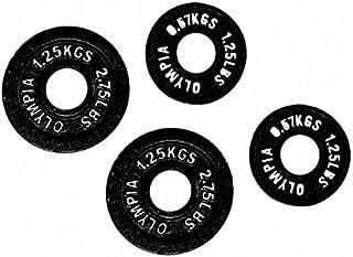 Ader Fitness Black Olympic Plate- (0.5kg, 1.25kg) 1 Pair Each