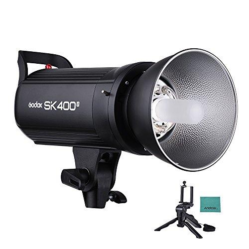Godox, SK400II, Profi 400, WS-Blitz, Stroboskop, für Studios 2.4 G, Wireless X SystemGN65, 5600 K mit 150 W, Modellierlampe mit Mini-Stativ