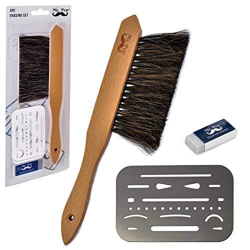 Mr. Pen Dusting Brush, Drafting Brush, Eraser Shield and Eraser