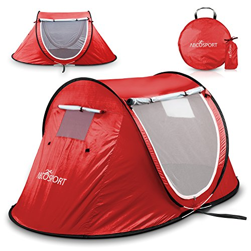 Pop-up Tent an Automatic Instant Portable Cabana Beach Tent - Suitable for Upto 2 People - Doors on...