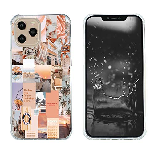 Case for iPhone 12 Pro Max, Vintage Vibe Collage Aesthetic Retro The Best Time Slim Case TPU Bumper Shockproof Protective Cover Case for Women Girls Support Wireless Charging