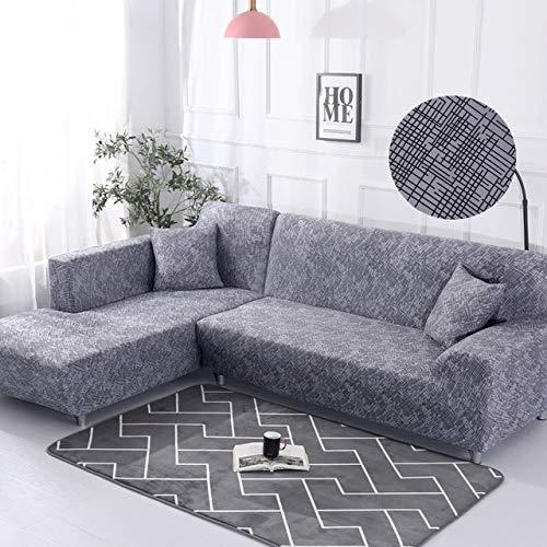ZWL Sofabezug Elastische Sofabezug Sektionale Stuhlbezug Sofabezug Ecke L Form Sofa,Color4,1seater and 3seater