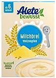 Alete bewusst Milchbrei Weizengrieß, Babybrei ab dem 6. Monat, 400 g