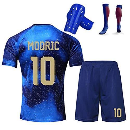 FYDT Sommer Fußballuniformen für Kinder 19-20 Saison Bale Hazard Modric Kinderspieluniformen können angepasst und wiederholt gewaschen werden-10#-130