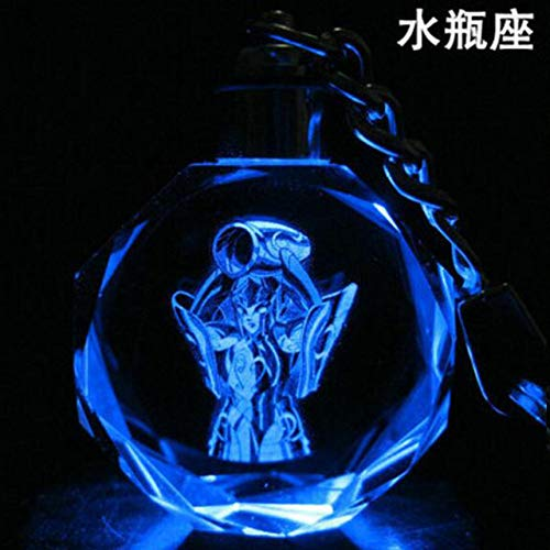 GFHDGTH Twaalf sterrenbeelden sleutelhanger, kristal LED lichtgevende flash hanger Sleutelhanger mode nieuwigheid grappig 3