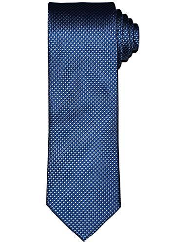 OLYMP Herren Seidenkrawatte feines Muster blau / weiß 1655 00 17, 0, Marine