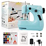 Sewing Machine , 2-Speed Household Mini Electric Sewing Machines for Beginners , with Sewing 42pcs Kit and Safety Guard (211) (Blue)