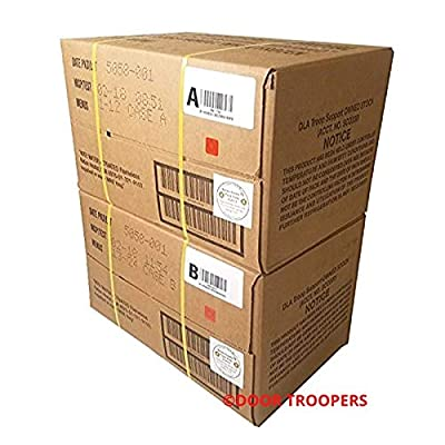 DOOR TROOPERS Long Term Foods Survival MRE (Meals Ready to Eat) Box A and B Bundle 2019, Real Genuine USA Military Surplus Food, Extended Shelf Life - Meal Variety, Meats, Entrees - 30,000 cals Total