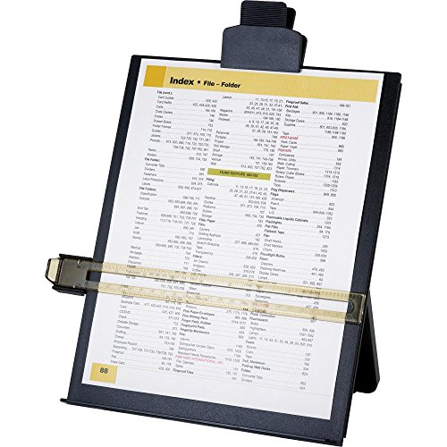 Sparco 38952 Easel Document Holders,Adjustable,10-3/8'x2-1/4'x12-1/2',BK