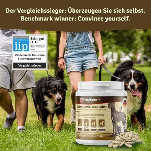 Veddelholzer LAURÉAT DE COMPARAISON DE PRODUITS 2020 Comprimés anti arthrose chien articulations pour chiens avec moule aux orles vertes MSM & griffe du diable, glucosamine & collagène 125 comprimés