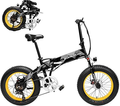Bicicleta Eléctrica Plegable Potente 500W/1000W 35km/h Ruedas Anchas 20 x 4 Pulgadas Bateria Removible 48V 10,4AH Shimano 21 Velocidades Bicicletas de Montaña/Carretera/Playa/Nieve [EU Stock]