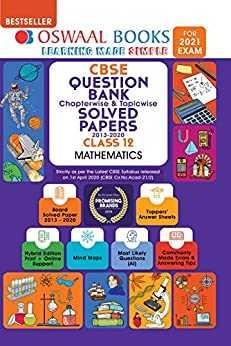 Oswaal CBSE Question Bank Chapterwise & Topicwise Solved Papers Class 12, Mathematics (For 2021 Exam) by [Oswaal Editorial Board]