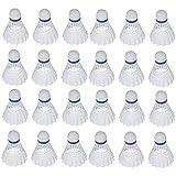 ZZICEN Badminton Birdies Badminton Shuttlecocks Nylon - Pack of 24, High Speed Plastic Badminton Birdie,Training Badminton Shuttlecock for Indoor and Outdoor Sports White