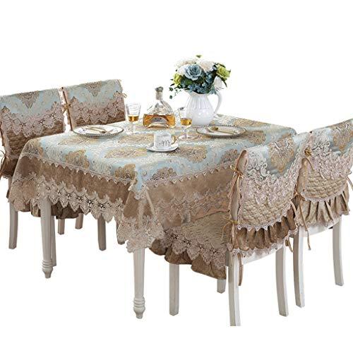 Nappe de tissu européen dentelle carré Rectangle Table Cover avec des motifs floraux élégants parfait pour la décoration intérieure, fêtes d'anniversaire, réceptions de mariage, tables de salle à mang