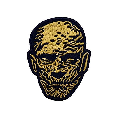 La momia parche (3,5pulgadas) DIY hierro bordado en insignia diseño de Boris Karloff película de terror Souvenir disfraz Universal Monster Imhotep