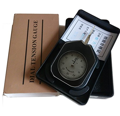 ATG-30-1 Dial Tension meter tester Gauge Tensionmeter Gram Force Meter Single Pointer 30G Pressure Pull Tester Gage Unit G with Analog tension meter tension tester, Single needle Gram gauge Black