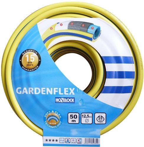 Hozelock Gardenflex 132884 Tuyau d'arrosage 12,5 mm x 50 m (Jaune/bleu)