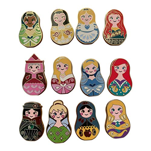 Disney Nesting Dolls 5 Pin Collectible Packs NEW, Multicolor, Small