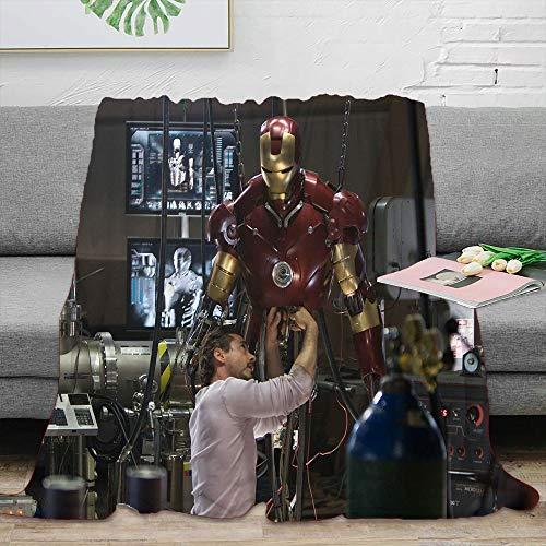 Elliot Dorothy Superhero Iron Man Avengers Fleece Throw Size Blanket Washable Blanket Lightweight Microfiber 60 x 80 inch